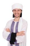 Арабский изолированный бизнесмен Стоковые Фото