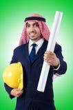 арабский инженер чертежей Стоковая Фотография