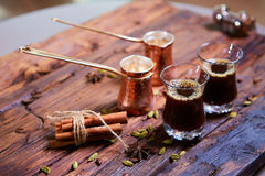 арабский кофе традиционный Стоковые Фотографии RF