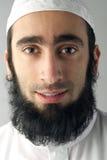 Арабский мусульманский человек с портретом бороды стоковое фото