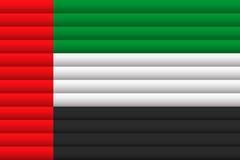 арабский соединенный флаг эмиратов также вектор иллюстрации притяжки corel бесплатная иллюстрация