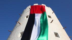 арабский соединенный флаг эмиратов сток-видео