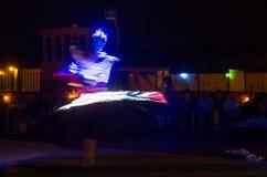 Арабский танцор выполняя a Стоковая Фотография