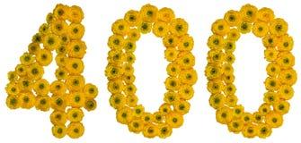 Арабский цифр 400, 400, от желтых цветков butterc Стоковая Фотография
