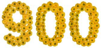 Арабский цифр 900, 900, от желтых цветков butterc Стоковые Фотографии RF