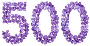 Арабский цифр 500, 500, от цветков альта, изолят Стоковые Изображения