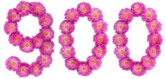 Арабский цифр 900, 900, от цветков хризантемы, Стоковая Фотография RF