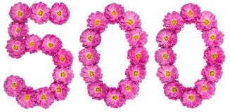 Арабский цифр 500, 500, от цветков хризантемы, Стоковое Фото