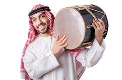 Арабский человек играя барабанчик Стоковое Фото