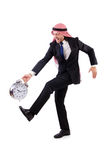 Арабский человек в концепции времени Стоковое фото RF