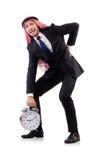 Арабский человек в концепции времени Стоковое Изображение RF
