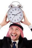 Арабский человек в концепции времени Стоковая Фотография RF