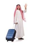 Арабский человек с багажом стоковое изображение rf