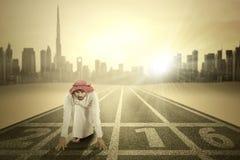Арабский человек с 2016 на улице Стоковое Изображение RF