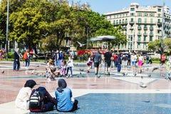 3 арабских девушки в Барселоне Стоковые Изображения RF