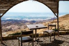 Арабское кафе на горах в Джордане Стоковые Изображения RF