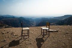 Арабское кафе на горах в Джордане Стоковое Изображение