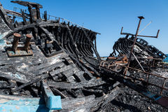 Арабы покинули рыбацкие лодки Стоковое Изображение RF