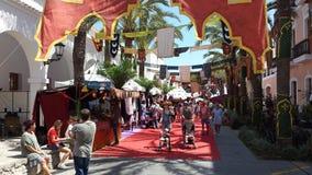 Араб выходит Ibiza вышед на рынок на рынок Испанию Стоковые Фото