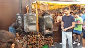 Араб выходит Ibiza вышед на рынок на рынок Испанию Стоковая Фотография
