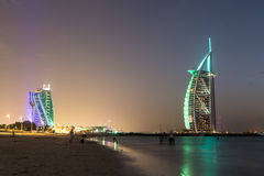 Араб al Дубай Burj - гостиница 5 звезд Стоковая Фотография