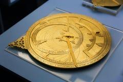 Аравийская астролябия - музей Шарджи стоковые изображения rf
