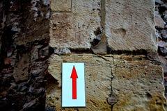 Аравийская надпись на вызванных стенах замка Hunedoara, замком Corvin в Transilvania Стоковые Фото