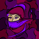 аравийские глаза Стоковое Фото