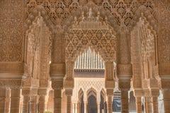 Аравийские двери с деталями на стене и на дверях, handcra Стоковые Изображения