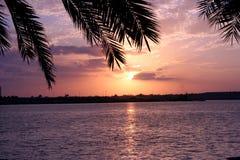 аравийский заход солнца Стоковое Изображение RF