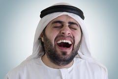 аравийским включенный клиппированием смеясь над путь человека стоковые изображения rf