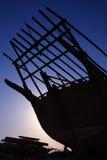 аравийское daw шлюпки деревянное стоковые фото
