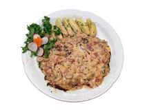аранжированная красивейше плита еды Стоковое Изображение