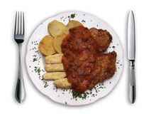 аранжированная красивейше плита еды Стоковые Фотографии RF