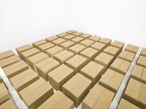 аранжированный картон коробок Стоковые Изображения RF