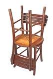 2 аранжированных деревянных стуль Стоковое Фото