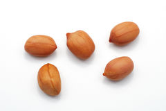 арахисы изолированные предпосылкой белые Стоковая Фотография