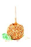 арахисы карамельки конфеты яблока Стоковая Фотография