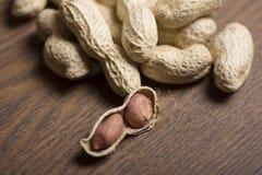 Арахисы, семя арахисов, арахисы текстура виньетки, арахис Брайна Материал арахиса Стоковые Изображения