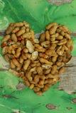 Арахисы сердца Стоковое Изображение