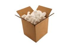 арахисы упаковки коробки изолированные картоном открытые Стоковое Изображение RF