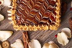 арахис торта домодельный Стоковое фото RF
