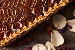 арахис торта домодельный Стоковые Фото