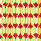 Арбуз безшовной картины свежий Стоковое Изображение RF