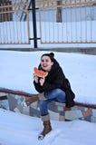 Арбуз в зиме Стоковая Фотография