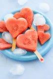 Арбуз в сердц-форме Стоковое Изображение RF