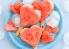 Арбуз в сердц-форме Стоковые Фото