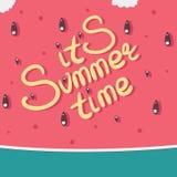 Арбуз обозначенный это лето Стоковые Изображения