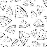 Watermelon contour pieces vector illustration