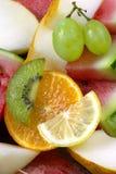 арбуз померанца дыни лимона кивиа виноградин Стоковые Фото